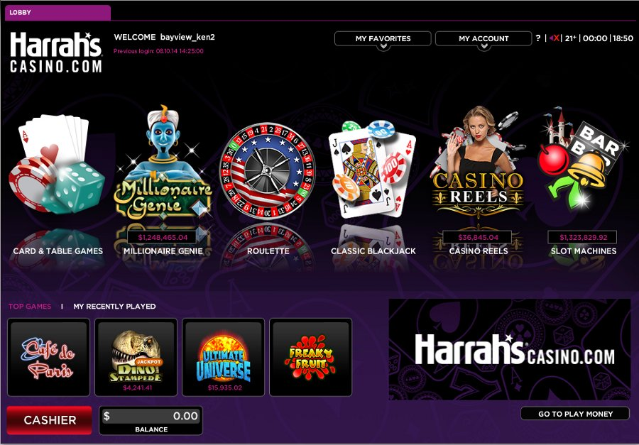 harrahs online casino new jersey